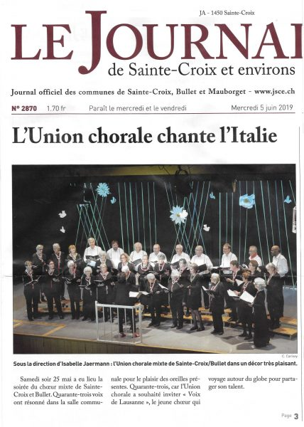 article-journal de Ste-Croix